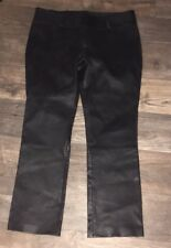 Alice + Olivia Bergdorf Goodman Black Slim Leg Leather Pants Sz 10 Sexy Solid