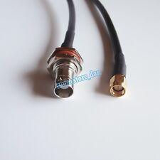 BNC female jack to SMA male plug straight crimp rf rg58 cable pigtail 3Feet
