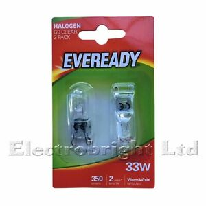2 x G9 33w=40w EVEREADY DIMMABLE ENERGY SAVING bulbs Capsule (1 twin Pack)