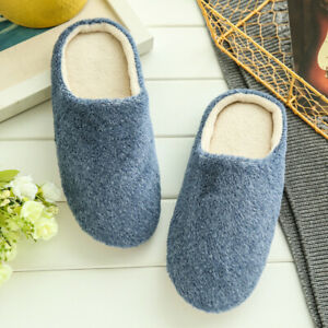 Unisex Slippers Slip On  Plush Soft Winter Warm Indoor Silent Soft-soled Shoes