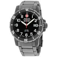 Wenger Off Road Black Dial Titanium Men's Watch 011341208S
