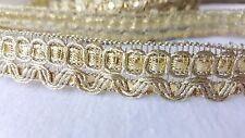 1.5cm- 2 metre Beautiful & unique gold sequins lace trimming for crafts decor
