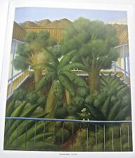 Fernando Botero Poster of The Patio 14x11 Unsigned Offset Lithograph