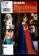 Simplicity 8728 Medieval Costume Cape & Headpiece Pattern Vintage 1999 One Size