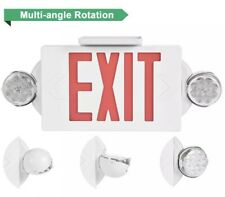 1 Pack Led Exit Sign Emergency Lighthi Output Compact Combo Ul Listed Red