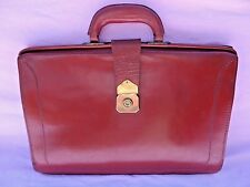 "VINTAGE GENUINE LEATHER SLIM BRIEF CASE / LAPTOP BAG VERY GOOD CONDITION 17""x12"""
