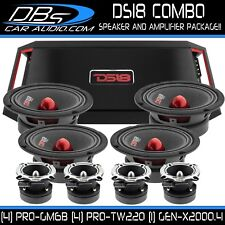 "4 DS18 PRO-GM6B 6.5"" Car Audio Midrange Speaker 