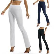 Pantalones de Pierna Ancha para Mujer Pantalón Yoga Cintura Alta Ocio Informal