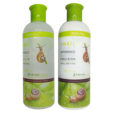 [FARMSTAY] Snail Visible Difference Moisture Toner&Emulsion Set 350ml*2 NEW