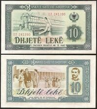 Albania 10 leke Paper Money, Banknote of 1964. UNC