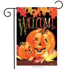 "Pumpkin Pals Halloween Garden Flag Jack o'Lanterns Briarwood Lane 12.5"" x 18"""