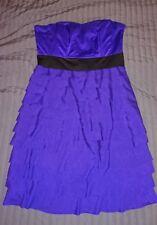 H&M Purple Bustier Tiered Dress Size 12