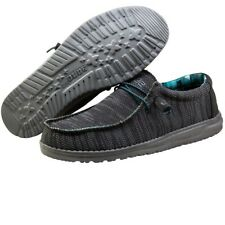 Hey Dude Wally Sox Charcoal Men's Shoes Comfortable Ligthweight SlipOn Casual
