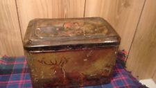 antique Victorian Colman's Mustard tin Paris Exhibition winner 1900 rare scenes