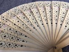 Vintage Plastic Hand Fan Folding - As Is