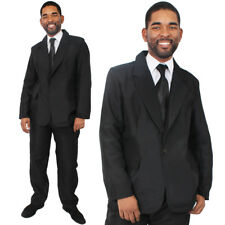 One Size Mens Black Skinny Tie Wedding Funeral James Bond 007 Fancy Dress