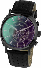 Jacques Lemans Men's Watch Stainless Steel Leather Strap Quartz 1-1645.1N