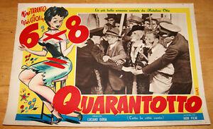 fotobusta film 6x8= QUARANTOTTO Nino Taranto Riccardo Freda 1951 Kremos