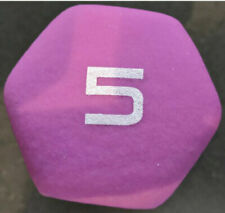 NEW. CAP Hex 5 lb neoprene dumbbell weight - Workout five pound - PURPLE