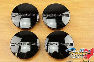 05-2020 Dodge Challenger Charger Magnum Journey Black Wheel Center Caps Set OEM