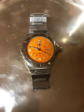 Victorinox Swiss Army Dive Master 300m Orange Dial Steal Band Mens Watch
