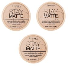 3 x RIMMEL LONDON STAY MATTE POWDER - 005 SILKY BEIGE - LOT OF 3 - FREE SHIP