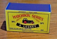 LESNEY MATCHBOX NO.1C ROAD ROLLER (AVELING) REPLACEMENT CUSTOM DISPLAY BOX ONLY