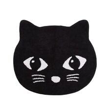 Tappeto cotone nera gatto Whiskers Occhi Camera letto  scuola materna intima