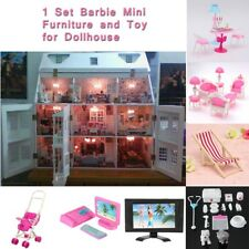 34Pc Mini Medical Miniatures Furniture Play Toys For Barbie Fashion Doll House