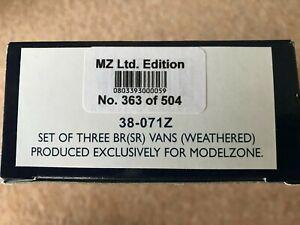 3 x Bachmann BR (SR) Vans 38-071Z LTD ED OO Gauge Unused, Modelzone Wagons
