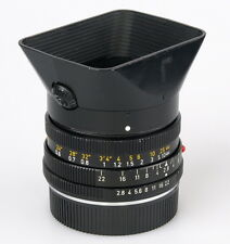 Leica Elmarit-R 28mm F2.8 lens with lenshood 12509.