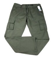 Ecko Unltd Mens Cargo Pants NEW  Size 36x32 Chinos Green Straight Fit $48 tags
