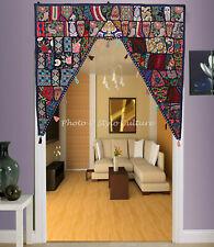 Türbehang Toran blau 7 Lamellen  Elefant  Spiegelchen Indien Fenster Dekostoff