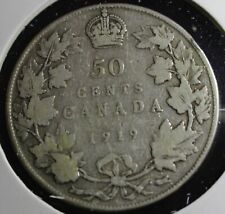 1919 Canadian 50 cent coin is 92.5% silver the exact coin will be sent lot #503
