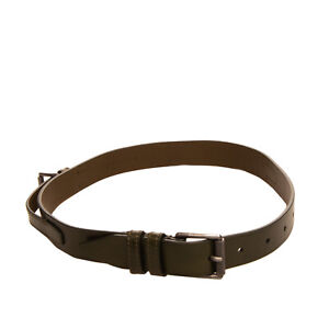 RRP €300 BELSTAFF Leather Waist Belt Size 100/40 Buckle Detailing Made in Italy