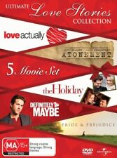 Atonement/Pride Prejudice/Definitely, Maybe/Love Actually/Holiday NEW DVD R4