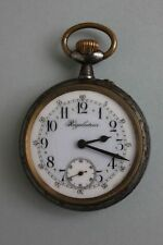 Grosse Taschenuhr mit bemaltem Zifferblatt Regulateur, um 1915   66 mm