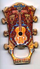 Hard Rock Cafe NASHVILLE Guitar Head Magnet Bottle Opener - Vintage - VHTF