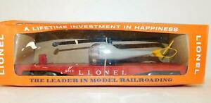 LIONEL 6819 FLAT W/HELICOPTER