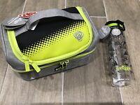 New Smiggle Double Lunch Box Bag & Water Drinks Bottle Boys School Bundle Gift