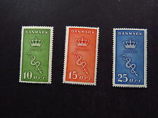 3 Stamps Frimaerker Denmark Danmark Fight Cancer Very Lightly * With Gum 1929