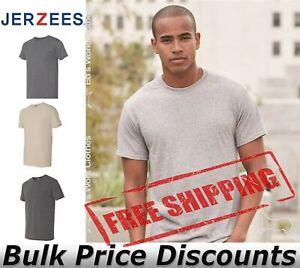 JERZEES Mens Triblend T Shirt Moisture Management Properties 601MR up to 3XL