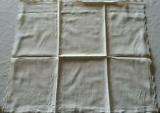 Kopfkissen ~69 x 68 cm feines Leinen mit Wellenrand