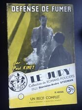 Défense de fumer Kinet Steeman Jury 27 Récit complet Roman policier BE