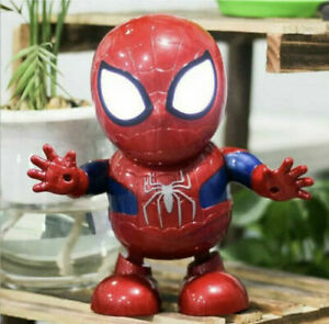 Spiderman Dance Hero Action Figure Robot Toy Dancing Music With Light Sound Red