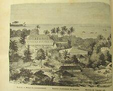 JOURNAL DES VOYAGES N° 171 de 1880 ILE de TAHITI / ATTAQUE OURS AVENTURE SERENA