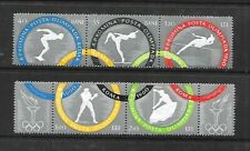 ROMANIA Sc 1326-30 NH issue of 1960 - PERF STRIPS - OLYMPICS
