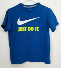 NIKE boy size M blue graphic short sleeve t-shirt