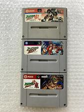 "Rushing Beat + Ran + Shura ""No Box No Manual"" Nintendo Super Famicom SFC Japan"