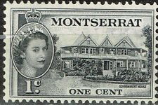 British Montserrat Island Gouvernment Building stamp 1956